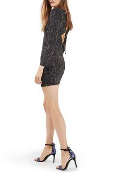 Lace Up Back Sparkle Dress by TOPSHOP on @nordstrom_rack