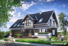 Projekt domu Celesta Hera G2 to mała rezydencja w nowoczesnym stylu, z pokojem hobby na poddaszu.