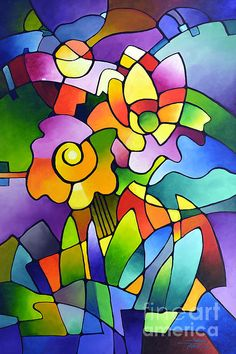 """Pinwheel Blooms"" by Sally Trace"