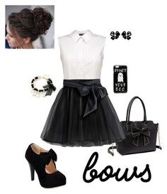 Put a Bow On It #Bows #Polyvore #Competition #Black #White #Girly #Cute #Sweet #Chic #MyStyle