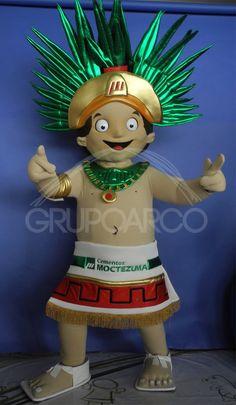 Botarga de Rey Mexica para Cementos Moctezuma ¡Conoce más botargas de figuras humanas aquí! http://www.grupoarco.com.mx/venta-de-botargas/botargas-de-figuras-humanas-en-mexico/