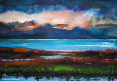 """""""Before the Storm 1""""----- Art by Gabriela Calinoiu------Pictura in acuarelă. www.galeriagabriela.wordpress.com"""