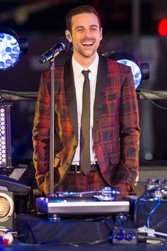 "If the new year is anything like 2013, he'll have plenty to smile about. Current GRAMMY nominee Ryan Lewis of Macklemore & Ryan Lewis surveys the crowd during a performance on ""Dick Clark's New Year's Rockin' Eve With Ryan Seacrest"" on Dec. 31 in New York"