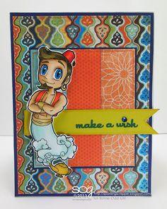 """""""Genie Kody"""" digital stamp by Some Odd Girl"""