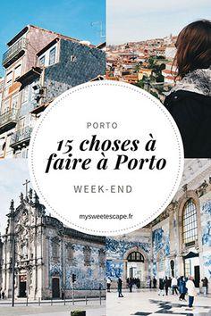 15 choses à faire lors d'un week-end à Porto (Portugal) Douro Portugal, Portugal Travel, Places To Travel, Places To See, Destinations D'europe, Portugal Holidays, Voyage Europe, City Break, Week End