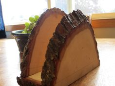Rustic Wood Napkin Holder by EnderLake on Etsy