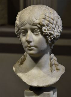 Portrait of Minatia Polla. Marble. Ca. 40 CE. Inv. No. 1043. Rome, Roman National Museum, Baths of Diocletian, Aula X. (Photo by I. Sh.).