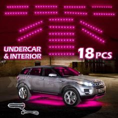 Amazon.com: PINK Premium 18pcs Underglow + Car Interior Three Mode LED Neon Accent light Kit Waterproof Ultra Bright + Plug & Play Ultimate Coverage.  The MOST COMPREHENSIVE installation kit on the market. Everything you need is included! $80.00