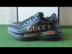 new style 7bff6 8ed46 Top Replica GUCCI RHYTON SNEAKER BLACK +UNBOXING REVIEW FROM SNEAKERAHEA.