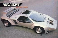 Vector W2 Twin Turbo, 1985-1986 - Silver, a new form of air intake in the nose, redesigned rear lights