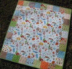 Fox Trails Boy Quilt Focal by SunnysideDesigns2 on Etsy, $138.00
