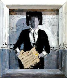Musicante .Tecnica : mista .olio.Anno : 2010 Autore : Lino Lanaro.