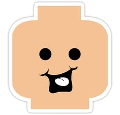 """""""Cheeky Minifig Head by Customize My Minifig"""" Stickers by ChilleeW 