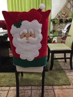 All Things Christmas, Christmas Humor, Christmas Time, Christmas Crafts, Christmas Ornaments, Christmas Chair Covers, Xmas Eve Boxes, Chair Back Covers, Felt Christmas Decorations