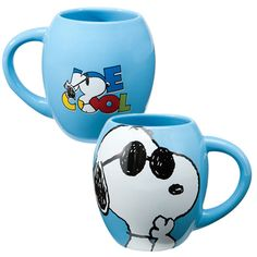 Peanuts® Joe Cool 18 oz. Oval Ceramic Mug - Tittles & Bits