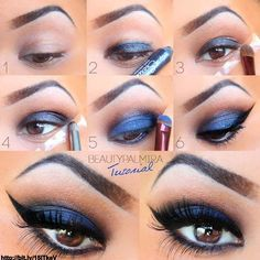 """""""Be Bold. Be Brave. Be Beautiful. #BeYoung. Bring out the boldness in you with powerful eye make up like this. Repin if you're gonna try this!"""""""