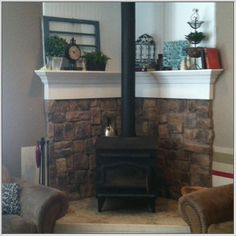 living room setup ideas with wood stove Google Search wood