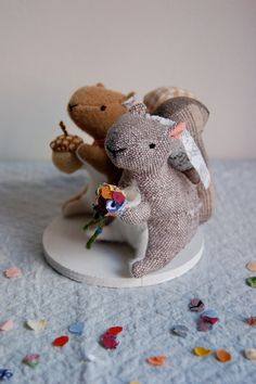 Squirrel Cake Topper.