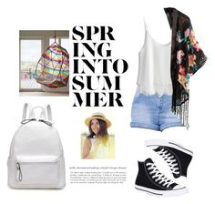 """""""Spring into Summer"""" by apostrope ❤ liked on Polyvore featuring Kendall + Kylie, Chicwish and Converse"""