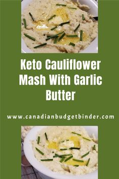 This easy keto cauliflower mash has no potatoes but tastes like you're  eating the real deal. Loaded with flavour you can add toppings such as  chives, bacon, cheddar, butter, sour cream and more. Cauliflower mashed  potatoes only has 1 net carb per 1 cup serving. A cauliflower puree that  everyone will love without the carbs.