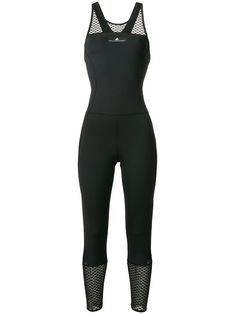 Adidas By Stella Mccartney Training Ultimate All-in-one Jumpsuit In Black Stella Mccartney Adidas, Cutaway, Active Wear, Black Jeans, 21st Birthday, Polyester Spandex, Jumpsuits, Model, How To Wear
