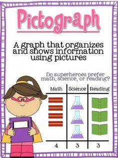Super Data! Anchor Charts and Make-your-Own Surveys. Great for teaching about data collection. Includes bar graphs, tally charts, and pictographs!