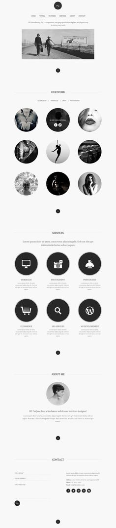 Inspiration of Black and White Websites