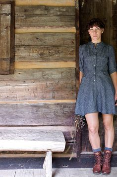 The Bitterroot Dress // Organic Hemp and Chambray