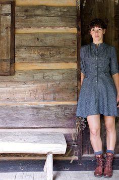 The Bitterroot Dress // Organic Hemp and Chambray
