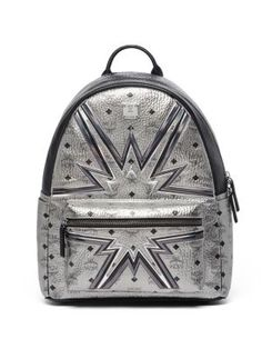 MCM Stark Cyber Flash Medium Coated Canvas Backpack. #mcm #backpack