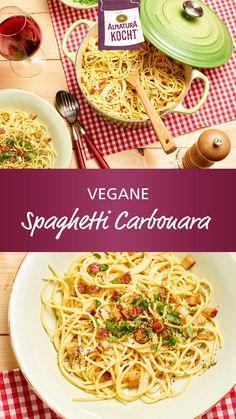Fun Baking Recipes, Dairy Free Recipes, Vegan Recipes, Bacon Carbonara, Creamy Pasta, Eat Smart, Food Porn, Food And Drink, Veggies