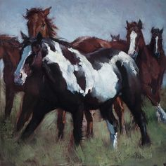 Horse Buffalo Paintings by Jill Soukup available Saks Galleries