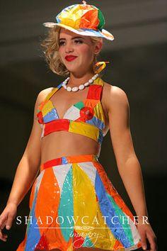 Beach Ball outfit - Repurposed Fashion | Trashion | Refashion | Upcycled Fashion