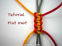 Flat Knot is a simple and useful knot. It can extend like a neat track. As it can trap cords inside, it is usually used to make an adjustable fastener in bracelets. Its Chinese name 平, literally me…