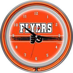 Trademark Games Philadelphia Flyers 14'' Neon Clock, Team