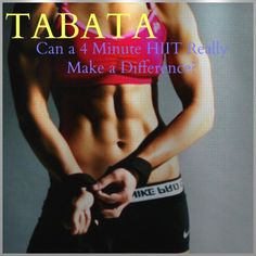 TABATA: Can a 4 minute HIIT workout really make a difference?