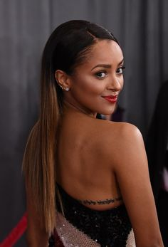 Kat Graham Ombre Hair - Kat Graham sported a sleek straight ombre hairstyle at the 2017 Grammys.