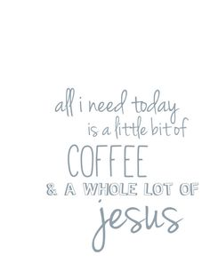 NEW Coffee and Jesus VintageInspired Print by PeacefulJoyDesigns