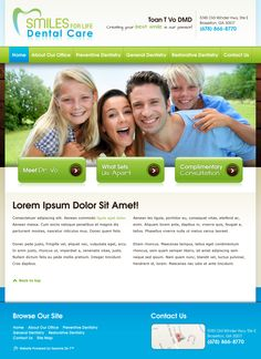#sesamewebdesign #psds #responsive #dental #contained #blue #green #texture #sans #handwriting #gradient #top-menu #modern