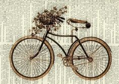bicycle graphic on text