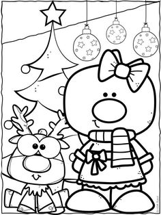 Christmas Arts And Crafts, Christmas Activities For Kids, Xmas Crafts, Christmas Colors, Baby Coloring Pages, Free Printable Coloring Pages, Rodolphe Le Renne, Creative Clips, Dr Seuss Crafts