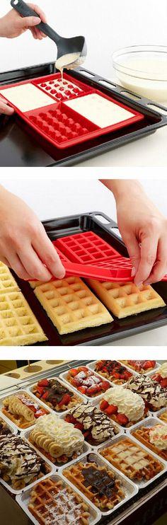 Oven Baking DIY Tool Waffle Pancakes Mold
