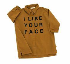 I LIKE YOUR FACE SHIRTDRESS