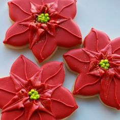 Love This Holiday Poinsettia Cookie Gift Set by #whippedbakeshop for $36.00 as pictured http://www.whippedbakeshop.com