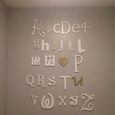 Wooden Alphabet Letters Set - to letters- Alphabet Wall Decor- Nursery Decor- Baby Room- Mixed Letters- Baby Girl- Wooden Alphabet Letters, Alphabet Wall, Nursery Letters, Letter Set, Letter Wall, Hanging Letters On Wall, Ampersand Sign, Baltic Birch Plywood, Uppercase And Lowercase
