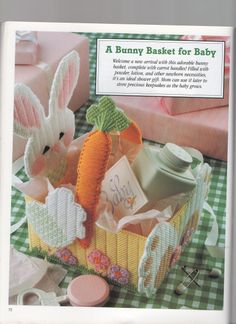 A BUNNY BASKET FOR BABY 1/4