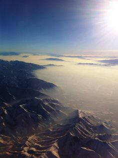 This was above Salt Lake City, Utah, while our flight took off. So serenity!