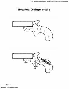 Homemade derringer pistol plans by Professor Parabellum