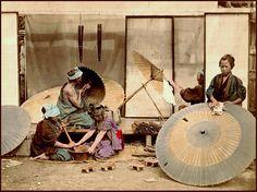 Umbrella(Bangasa) makers of old Japan-1873--Okinawa Soba