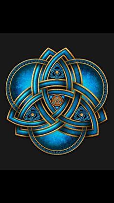Blue Celtic Triquetra Square Sticker x by Naumaddic Arts - CafePress Celtic Symbols, Celtic Art, Celtic Knots, Irish Symbols, Celtic Patterns, Celtic Designs, Les Aliens, Celtic Tattoos, Maori Tattoos